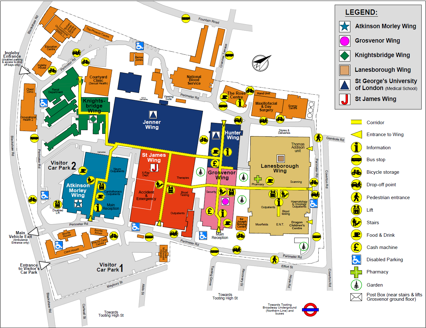 St James Hospital Map Modular buildings overview